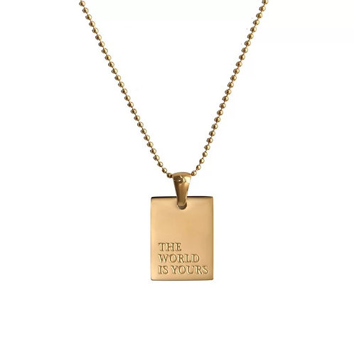 Text Necklace