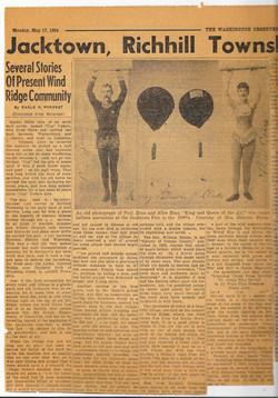 Newspaper Article 1954