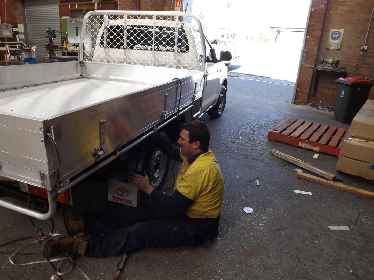 Stu conducting repairs