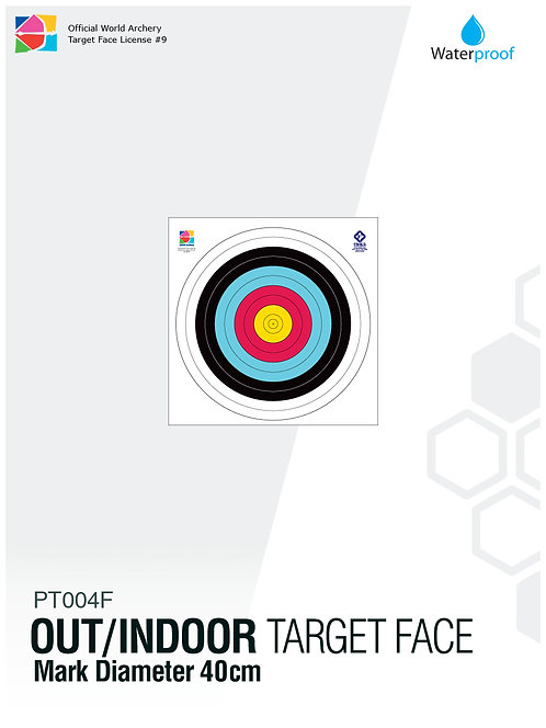 OUT/INDOOR TARGET FACE 40