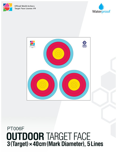 OUTDOOR TARGET FACE 40(5R)×3
