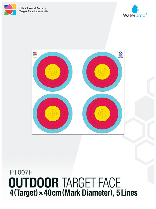 OUTDOOR TARGET FACE 40(5R)×4