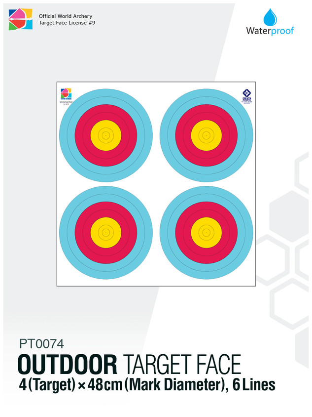 OUTDOOR TARGET FACE 48(6R)×4