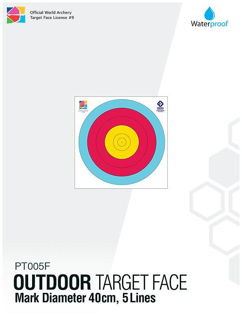 OUTDOOR TARGET FACE 40(5R)