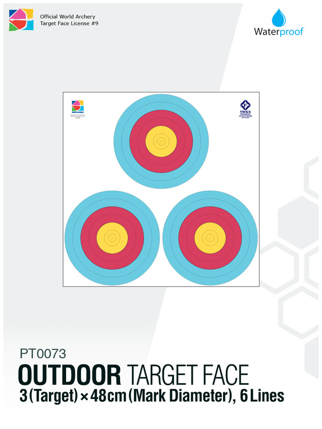 OUTDOOR TARGET FACE 48(6R)×3