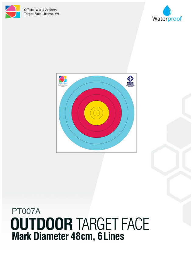 OUTDOOR TARGET FACE 40(6R)