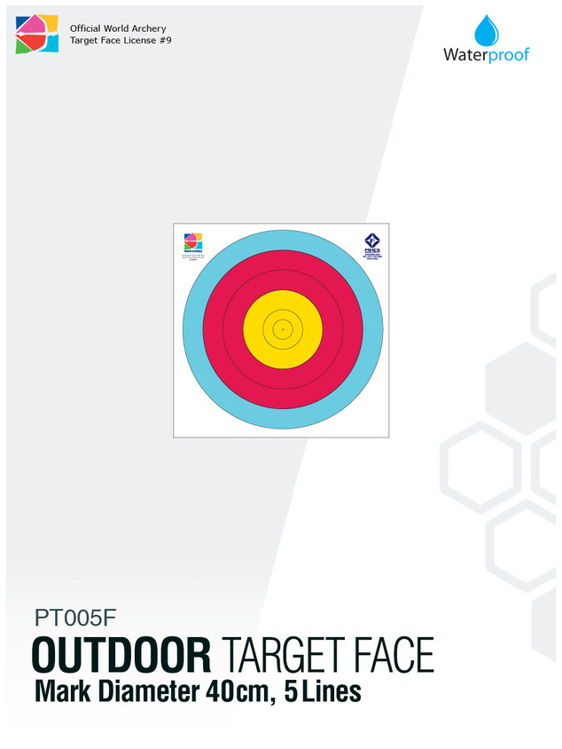OUTDOOR TARGET FACE 40(5R)