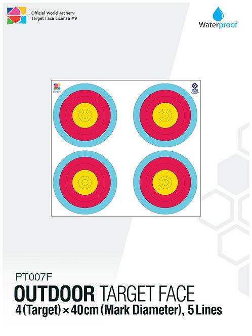 OUTDOOR TARGET FACE 40(5R)×4
