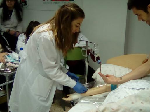 Práctica de extracción de sangre