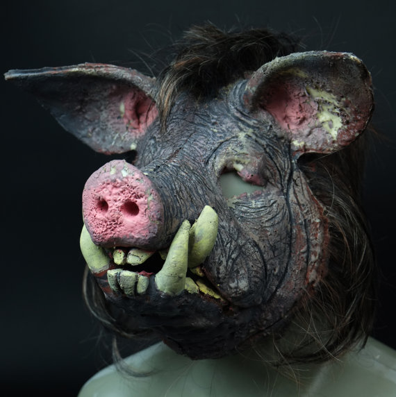 Custom design silicone mask BOAR