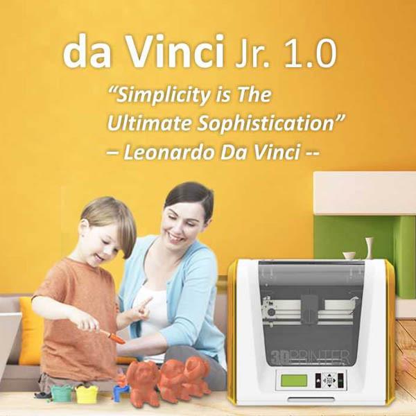 DA VINCI JR.1.0 列印機 專為3D列印入門者所設