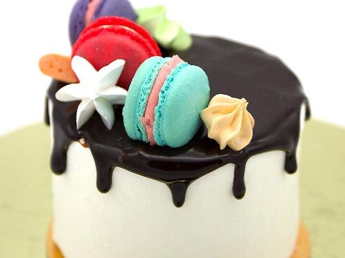 Мини-торт малиново-шоколадный