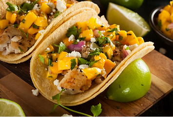 Tacos with Mango Salsa
