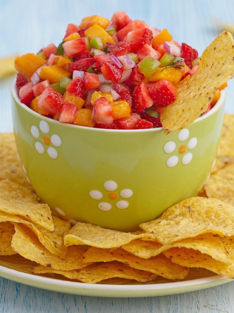 Strawberry Peach Salsa