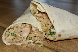 Pineapple Chicken & Rice Wrap