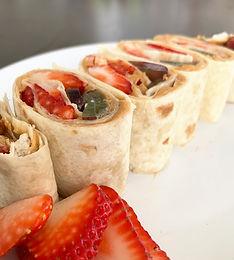 PB & Fruit Tortilla Rollups