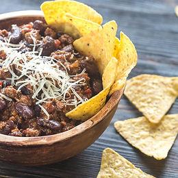 Crockpot Chili & Chips