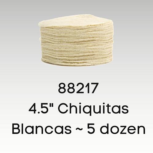 """Chiquitas 4.5"""" Blancas"""