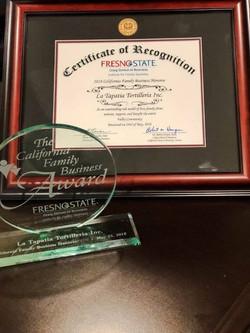 California Family Business Award