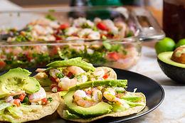 Shrimp Ceviche Tostadas