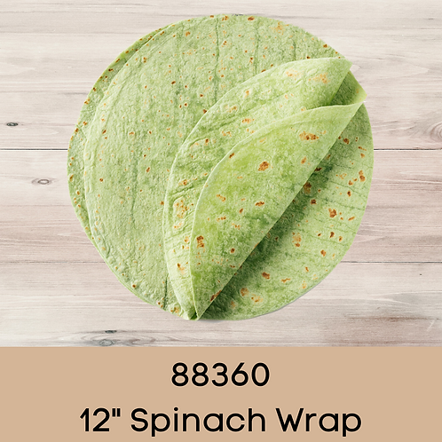 """88360 12"""" Spinach Wrap"""