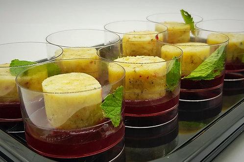 Сырные рулетики с малиновым соусом (сет)