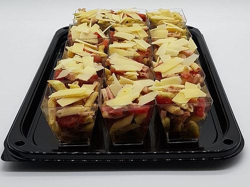Холодная паста с ветчиной и томатами (сет)