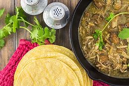 Chile Verde and Tortillas
