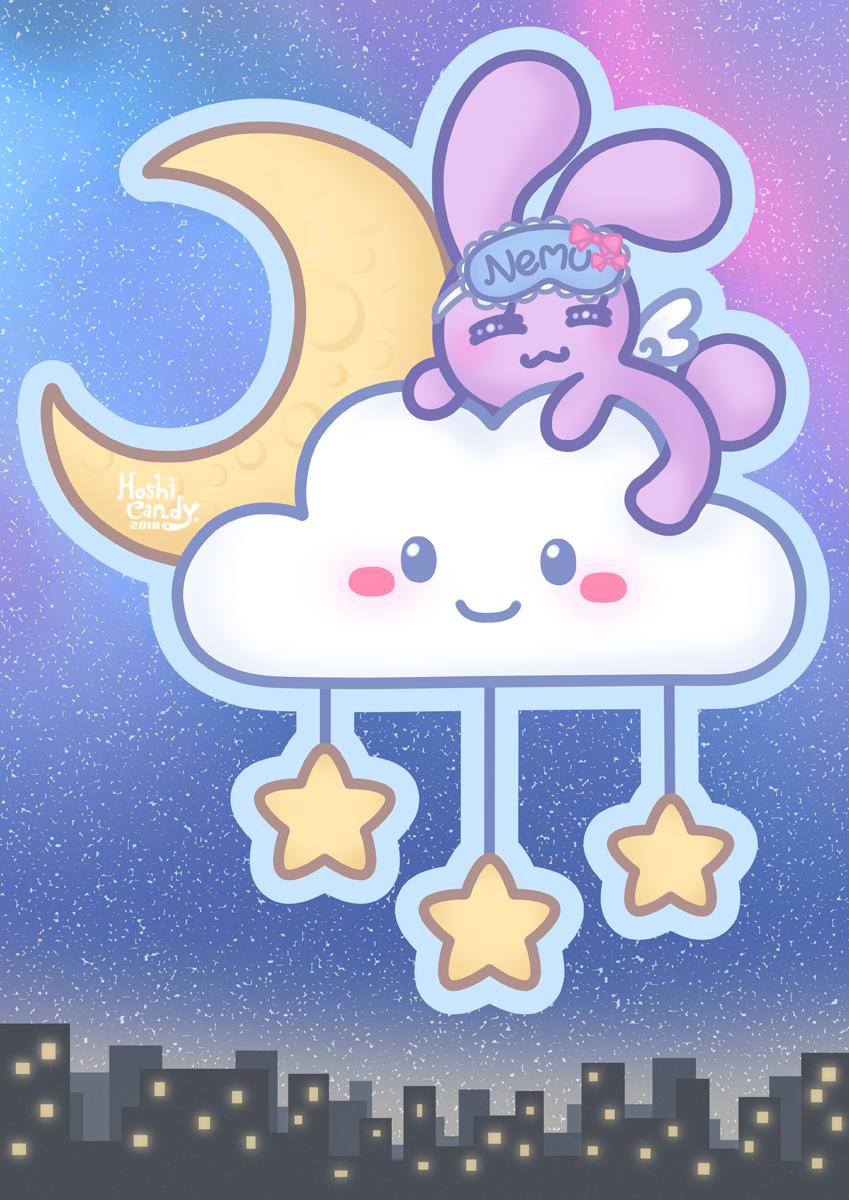 Nemui Bunny on Cloud