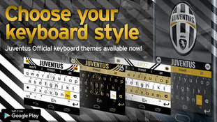 Juventus FC official keyboard themes banner