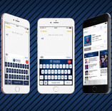 Keyboard themes, feed and screens design for Paris Saint Germain official keyboard (iOS)