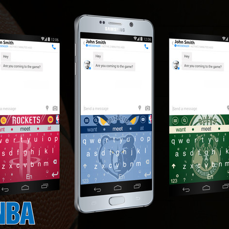 Keyboard themes design for NBA league teams official keyboards (Android)