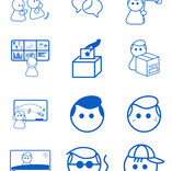 Icons illustration and design