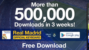 Real Madrid FC official keyboard banner