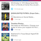 Barcelona FC official keyboard feed