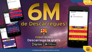 Barcelona FC official keyboard banner