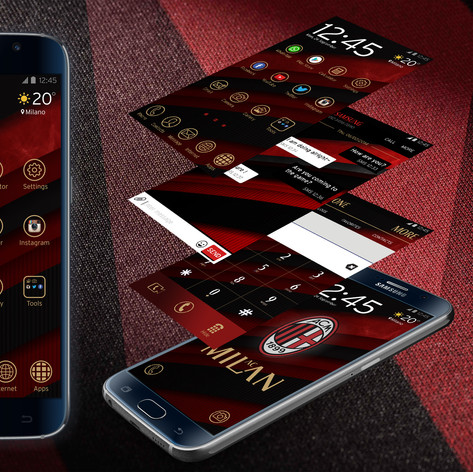 Samsung operating system themes design for A.C Milan