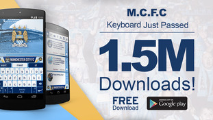 Manchester City FC official keyboard banner