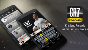 CR7 official keyboard Google Play Store assetes and product design