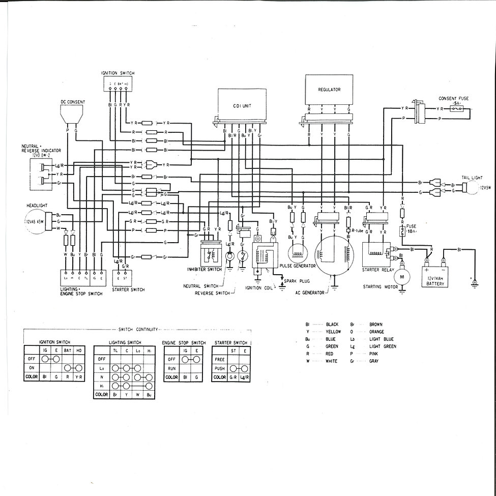Wiring Diagram Honda Big Red : Honda big red atc es wiring diagram