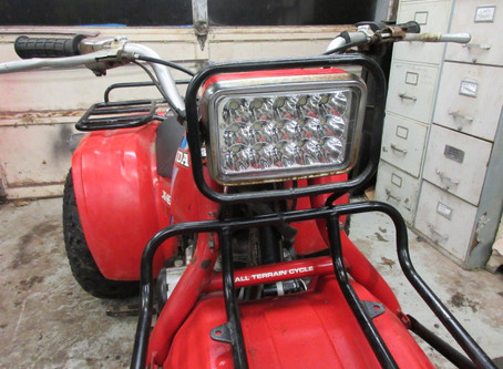 1982 1983 1984 Honda BIG RED 200E 250ES LED Headlight Upgrade