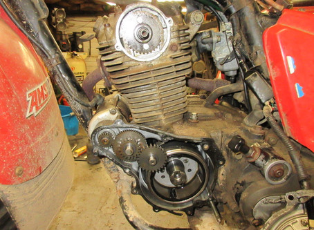 In Frame Timing Cam Chain Replacement 1984 Honda 200ES BIG RED
