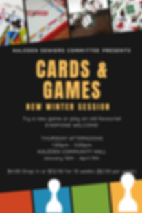 Cards & Games Winter Session poster