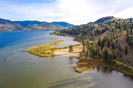 Overhead view of Sickle Point, Kaleden, BC