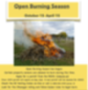 Open burning season information
