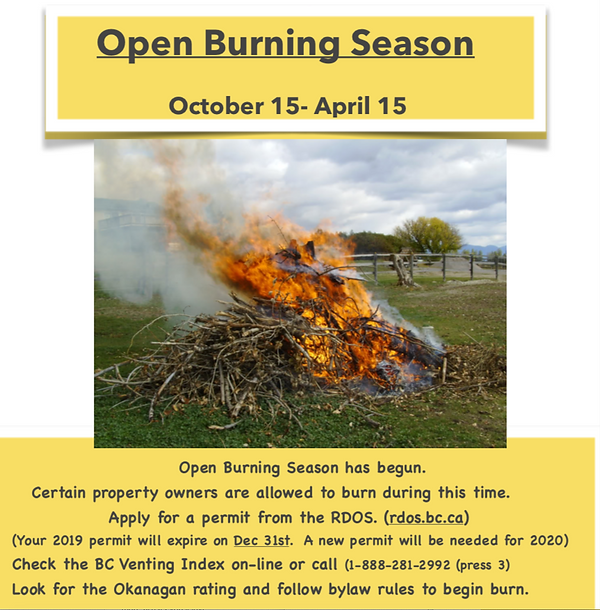 Open burning season information