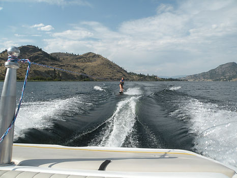 Person waterskiing near Kaleden.JPG