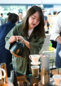 Experiencing different drip kettle