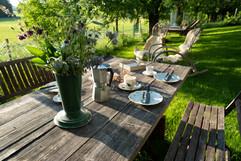 Gartenlounge Esstisch (Abendsonne)
