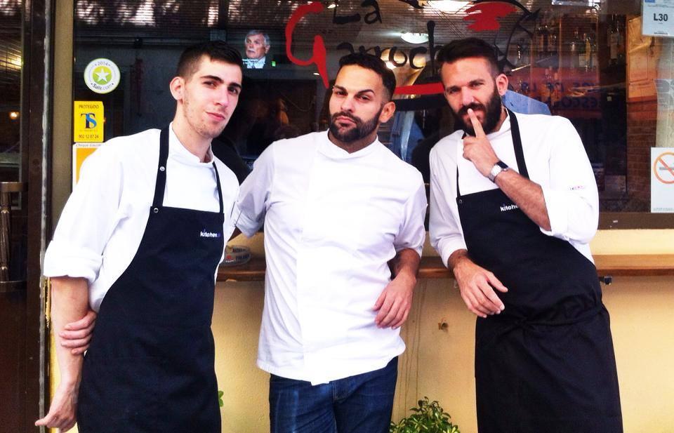 Con mis chicos, Miguel y Fran!